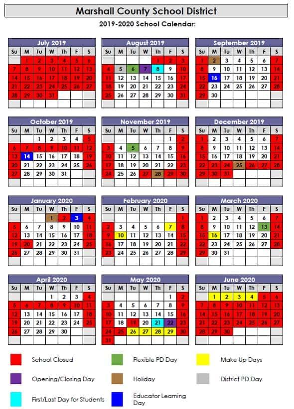 Marshall County Christmas Parade 2020 Marshall County School District 2019 2020 Calendar | Marshall