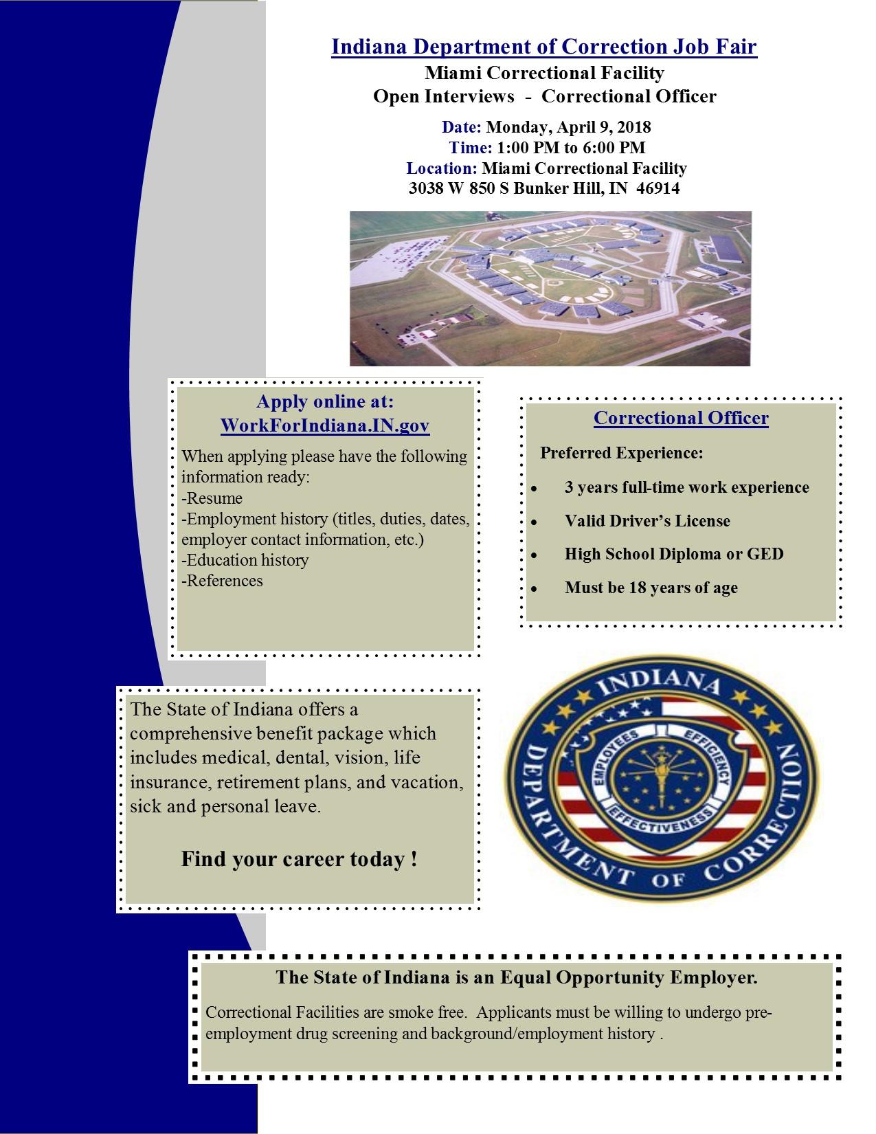 Miami Correctional Facility Job Fair | Z 92 5
