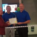 Mark, Bath Planet Store Manager & Steve Little, Owner with the Chamber Certificate in hands