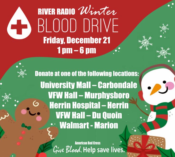 Christmas Blood Drive.River Radio Winter Blood Drive Dec 21 Wjpf News Radio