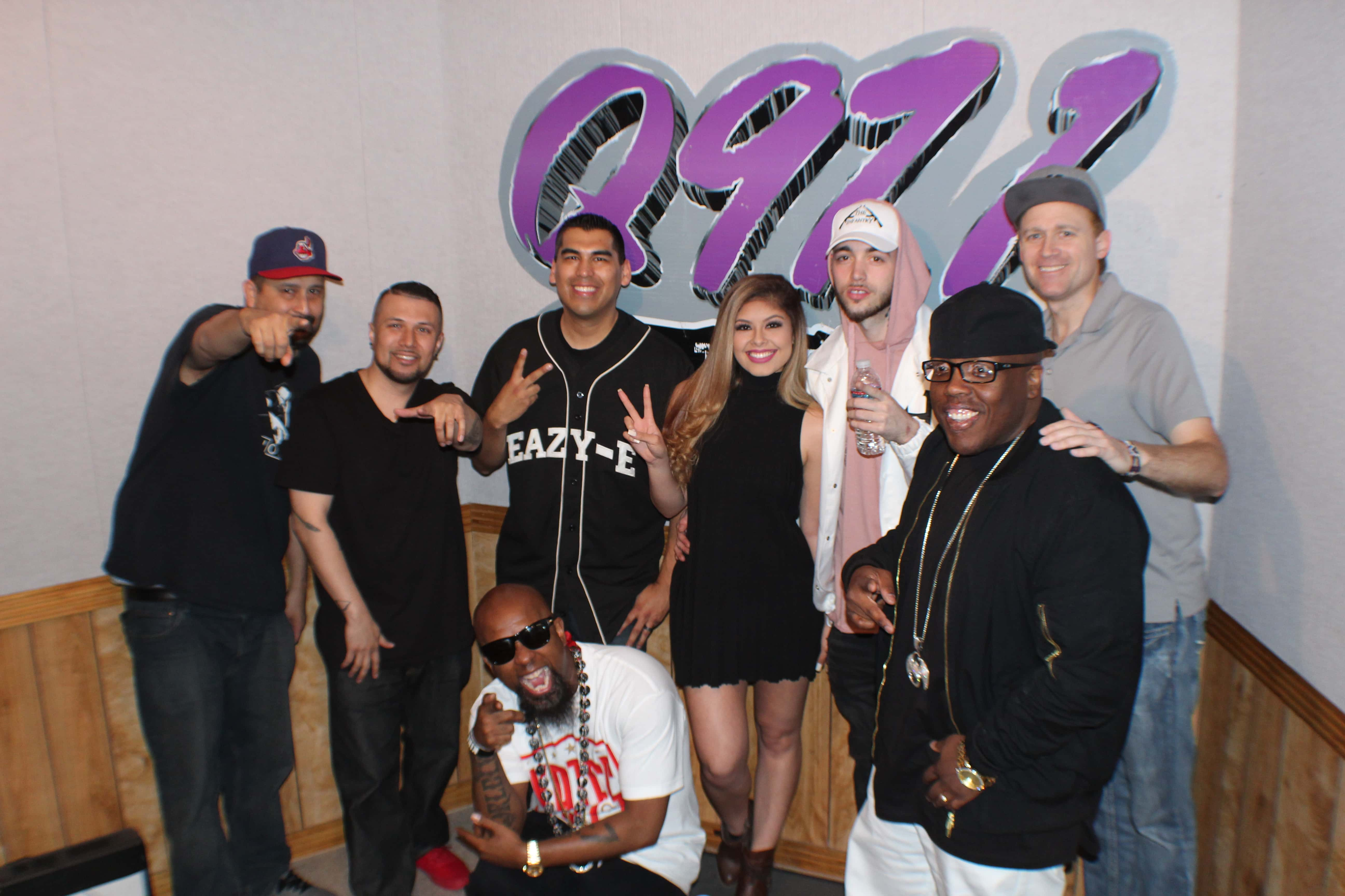 Tech N9ne in the Q97 1 Studio with fans and listeners! | #Q971