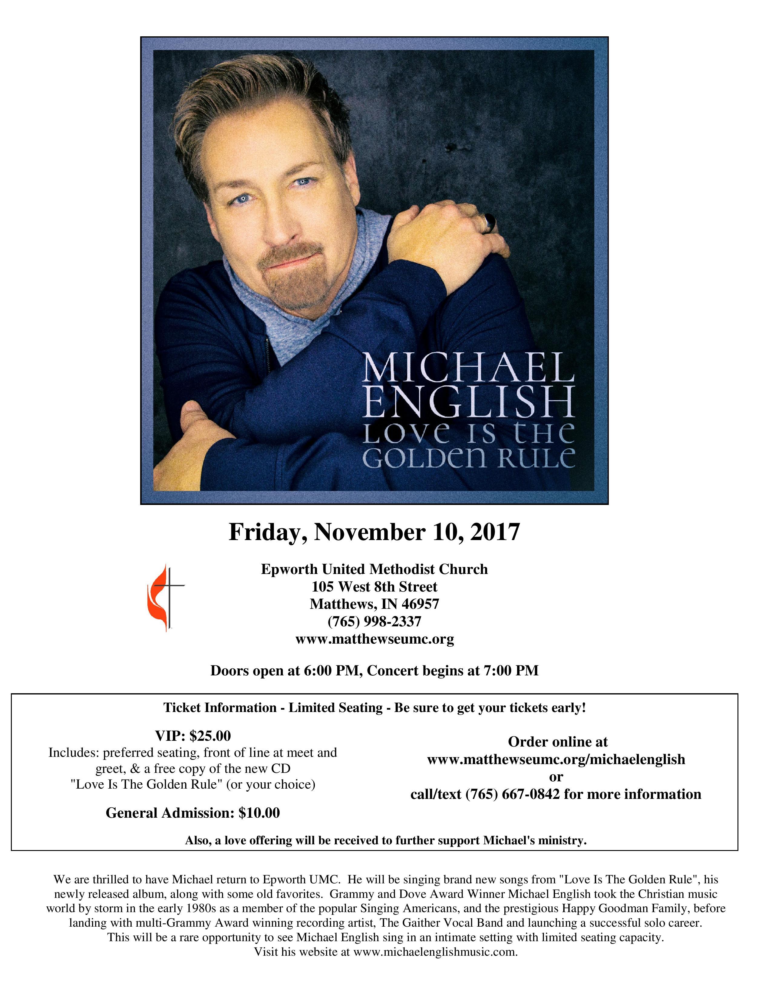 Michael English In Concert Wcjc