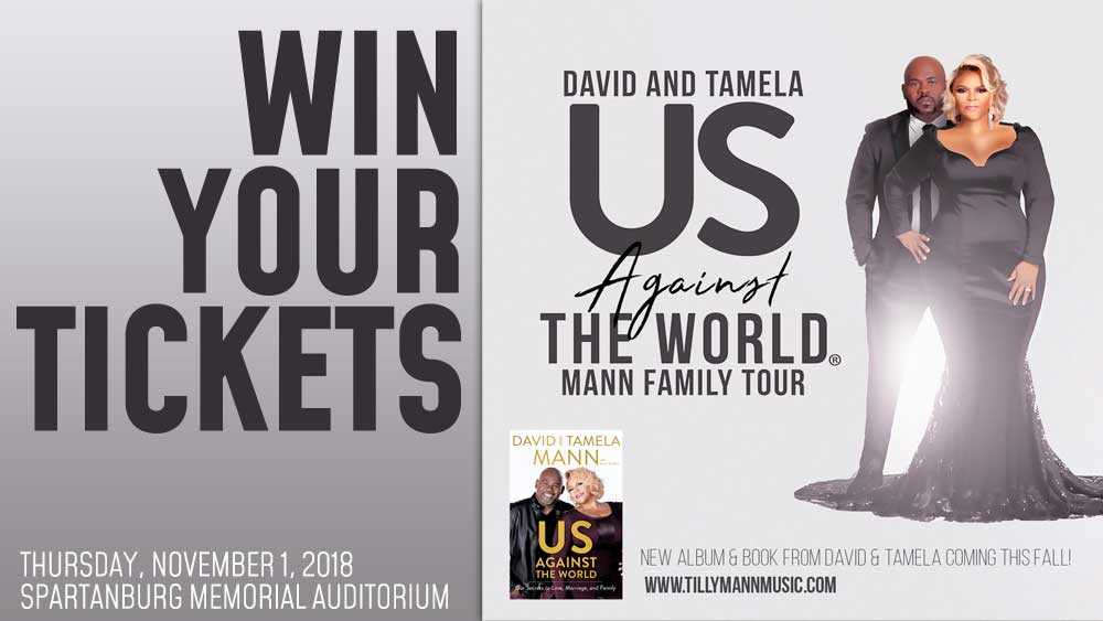 Win tickets to see David and Tamela Mann!