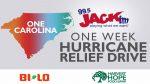 One Carolina, One Week Hurricane Relief Drive - 9/19 - 9/22