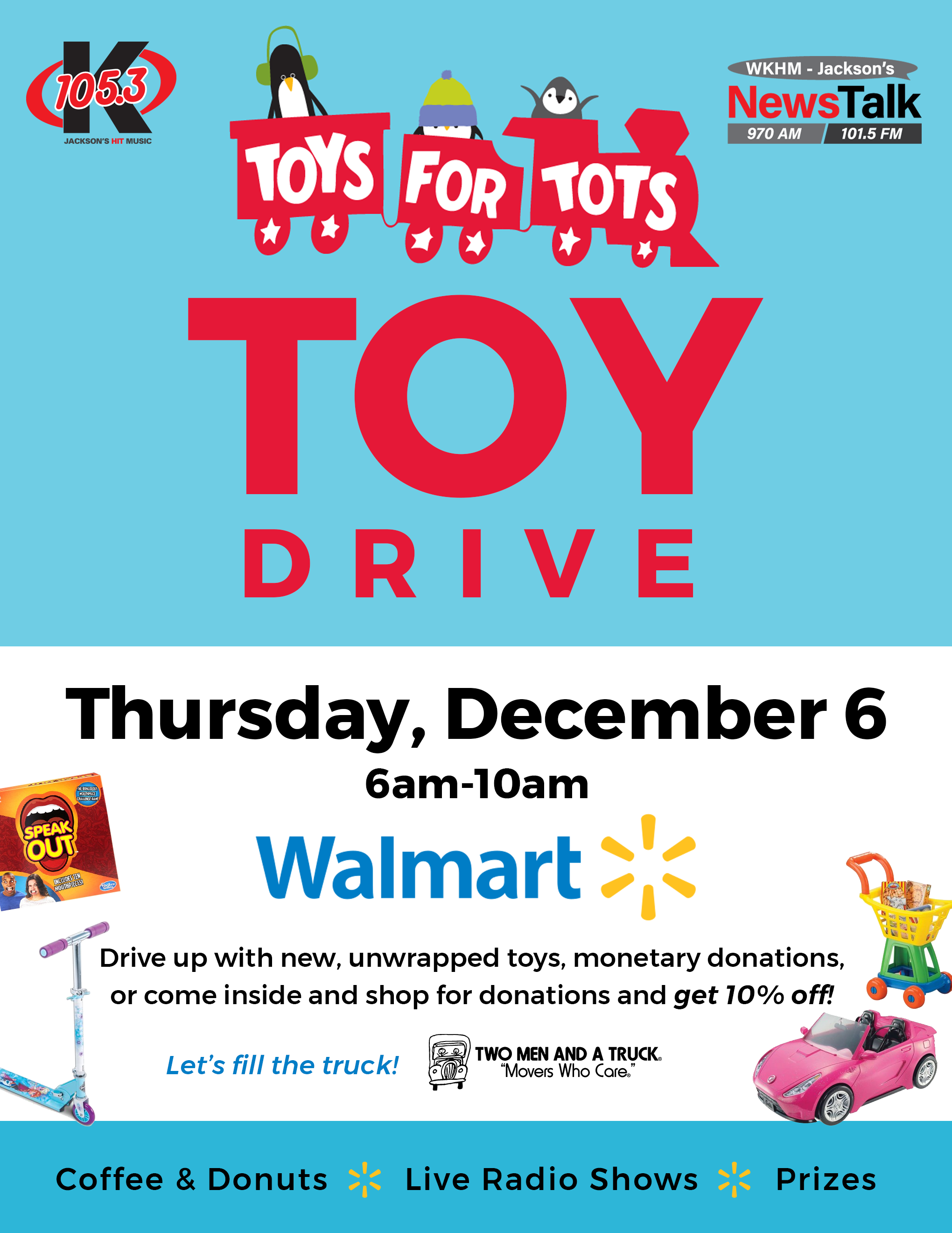 Wkhm Toys For Tots Drive