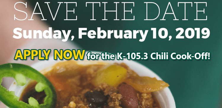 K-105.3 Chili Cook-Off - Apply Now!