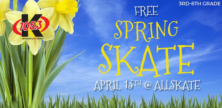 K-105.3 Spring Skate - Sign up here!!