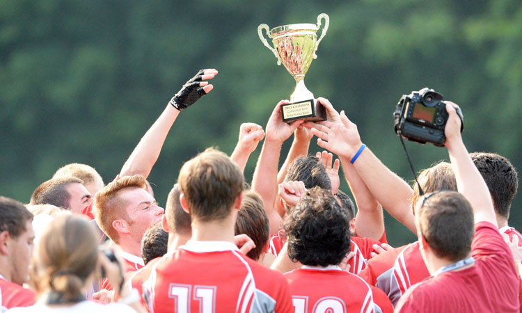 The Greenwich High School rugby team wins its eighth state title in a row Thursday afternoon at Cardinal Stadium. (John Ferris Robben photo)