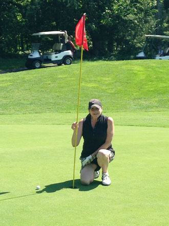 Fern DiMaio came closest to pin at the 2015 Boys & Girls Club Greenwich 12th Annual Golf Tournament. — Boys & Girls Club of Greenwich photo
