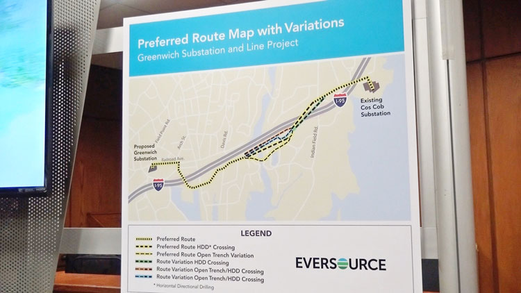Eversource's proposal of a new substation at 290 Railroad Avenue and underground transmission lines through parts of Bruce Park.