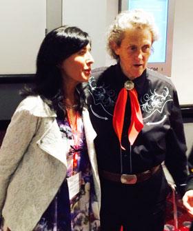Brita Darany von Regensburg, FAP President, meets with Dr. Temple Grandin.