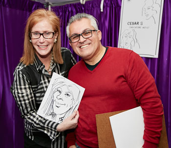 CCI Board Member Cheryl Simon had her sketch done by artist Cesar S. Photo by Elaine Ubiña