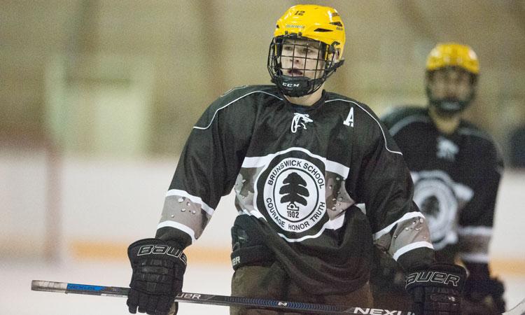 The Brunswick School hockey team upended Millbrook School Wednesday 7-2. (John Ferris Robben photo)
