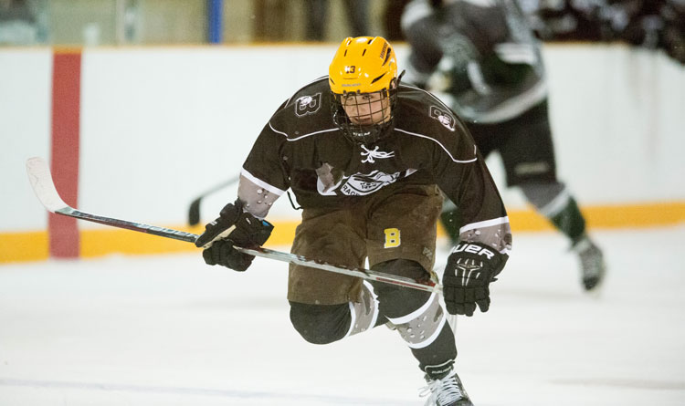 The Brunswick School hockey team upended Williston Northampton earlier Saturday 5-3. (John Ferris Robben photo)