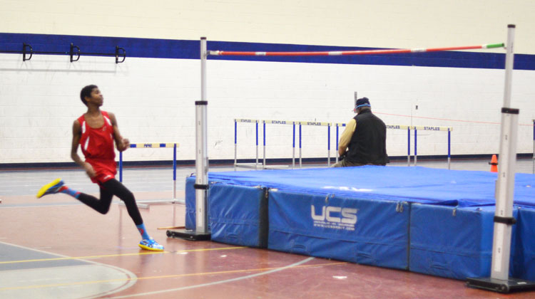 Greenwich High School Junior Safir Scott placed first in the high jump on Saturday, clearing 6-04.