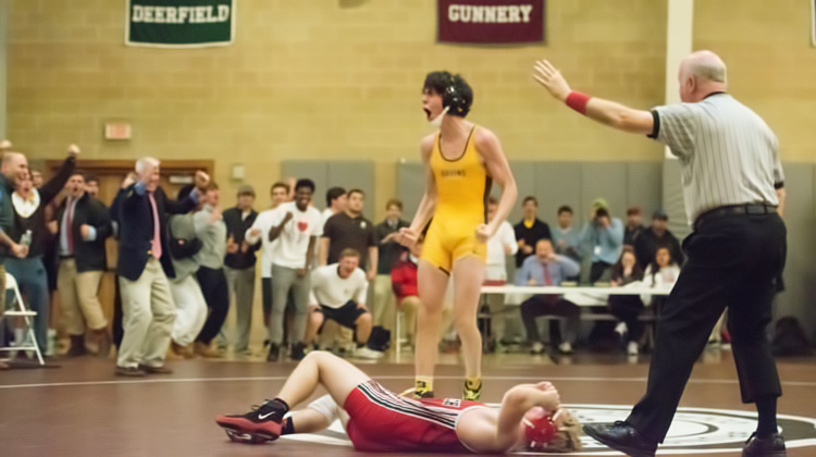 The Brunswick School wrestling team took to the mat at home and upended rival Greenwich High School Tuesday afternoon. (John Ferris Robben photo)