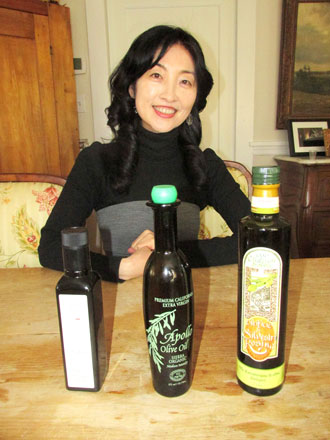 """Grace Song's dream - to """"share quality EVOO... through olive oil tours."""" Photo by Anne W. Semmes"""