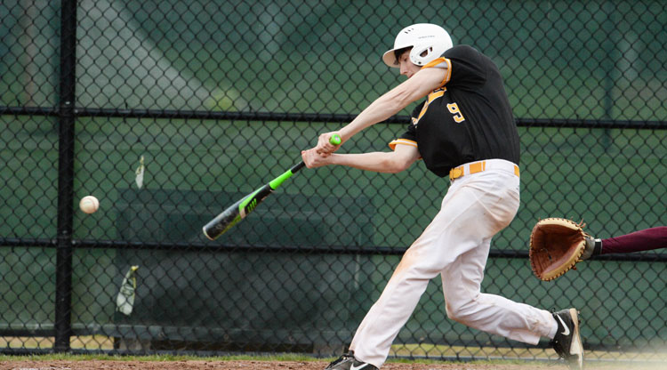 The Brunswick School baseball team in a recent game. The Bruins took down GFA 14-0 Monday afternoon. (John Ferris Robben photo)