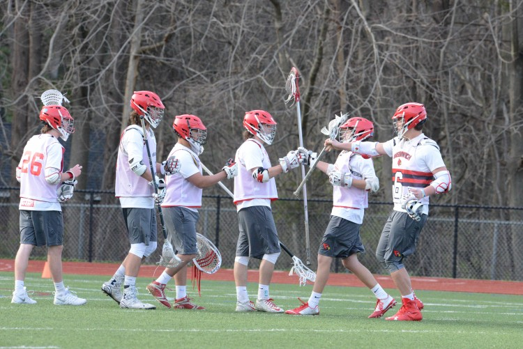 The GHS Boys Lacrosse team picked up a victory against Danbury High.  (John Ferris Robben Photo)