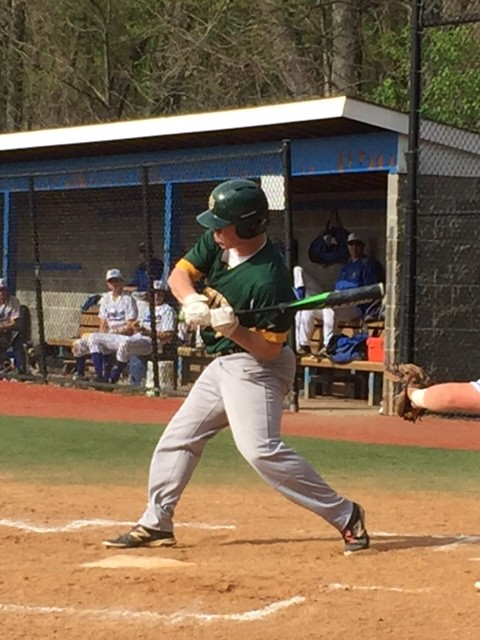 Dillon Daine rips a single in a recent game (Contributed Photo)