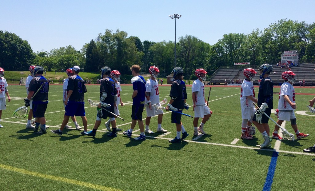 The GHS boys lacrosse team took down Newtown 20-6 in Saturday's Class L Qualifying round.