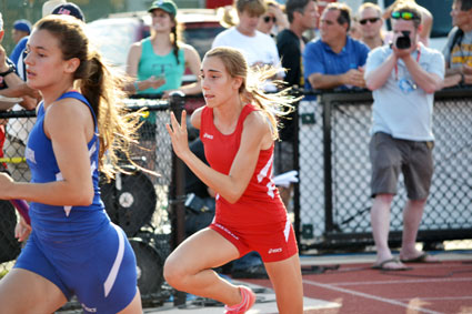 The Greenwich High boys and girls track teams both fared well during Monday's CIAC state open meet. (Paul Silverfarb photo)