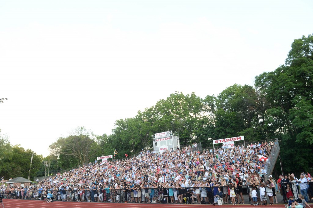 Friends, families and loves ones packed Cardinal Stadium for Tuesday's Class of 2016 graduation (John Ferris Robben Photo)