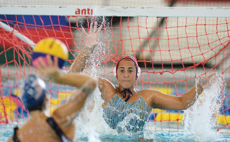 The USA Women's Water Polo National Team takes to the Greenwich YMCA pool Wednesday morning for a practice prior to the exhibition game against Hungary. (John Ferris Robben photo)