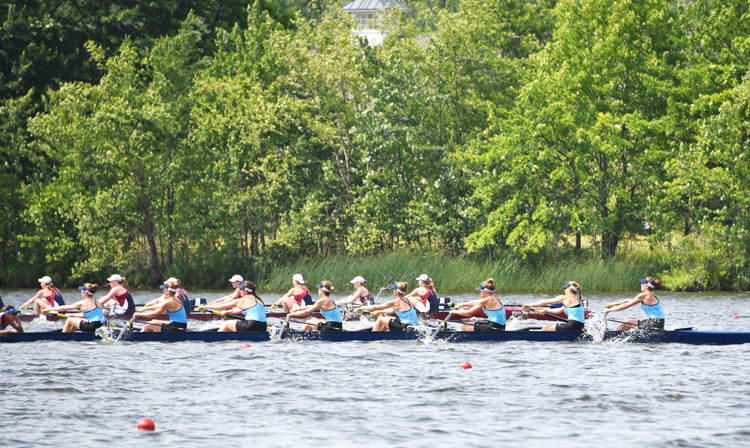 Greenwich Crew sent a total of 23 athletes to the Youth National Regatta held last month at Mercer Lake in West Windsor, N.J.