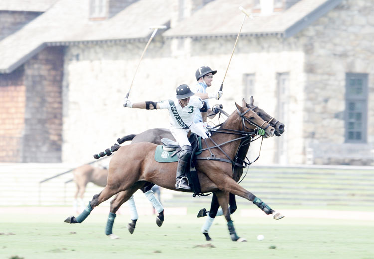 Mariano Aguerre of White Birch playing earlier in the season at the Greenwich Polo Club. (John Ferris Robben photo)