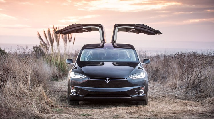 The Tesla Model X. (photo courtesy of Tesla)