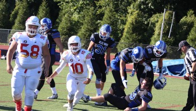Greenwich fell to Darien Saturday 42-35 (Evan Triantafilidis Photo)