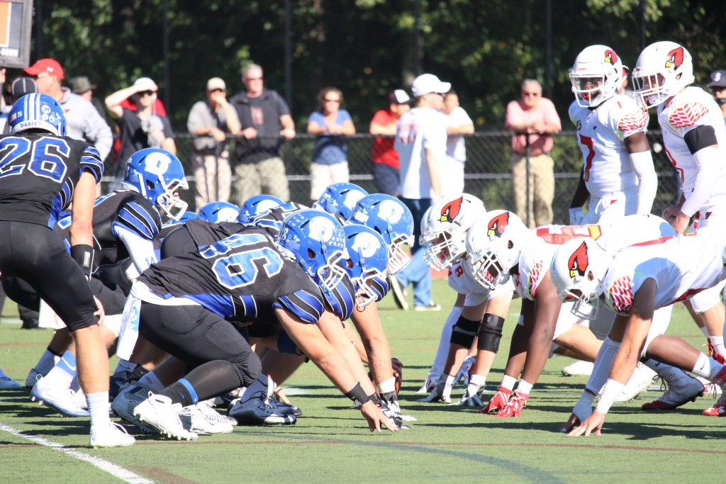 Greenwich fought Darien until the very end in Saturday's 42-35 loss (Evan Triantafilidis photo)