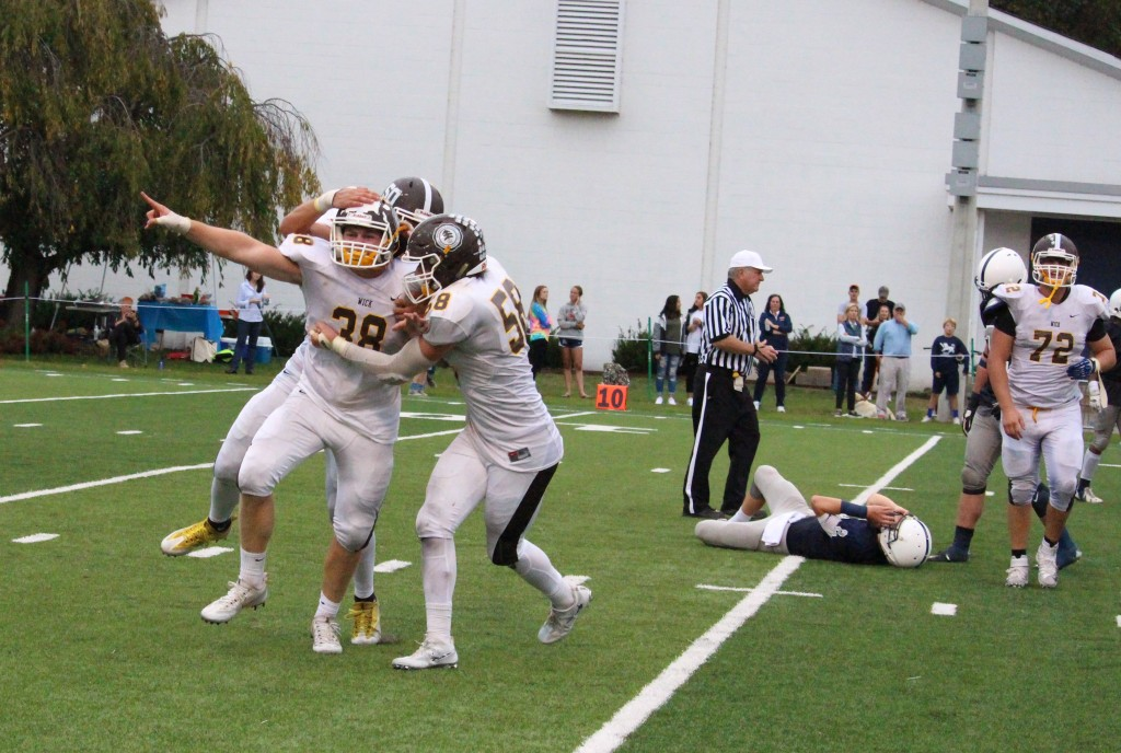 A sack on the final play of the game secured a 27-26 win for Brunswick over Kent [Evan Triantafilidis Photo)
