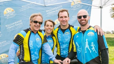 William Raveis, his daughter-in-law Meghan Raveis (Managing Director, William Raveis Charitable Fund), and his two sons and co-presidents Ryan Raveis and Chris Raveis. Photo credit: Oliver Bencosme, PlanOmatic 2016