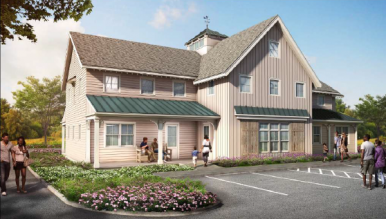 Rendering of Neighbor to Neighbor building on a portion of the Tomes-Higgins property owned by Christ's Church