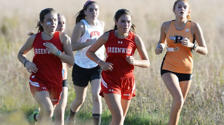 The GHS girls' cross-country team took home second overall at this year's FCIAC championship meet. (John Ferris Robben photo)