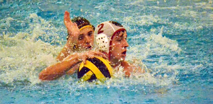 Greenwich High's Kevin Downey gets the ball away from the Brunswick defense. (Paul Silverfarb photo)