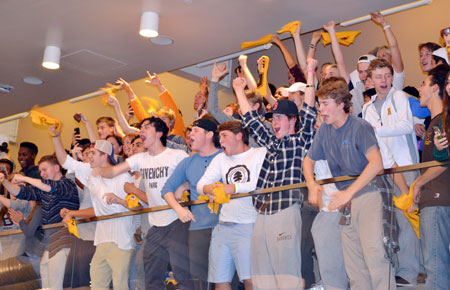 The Brunswick School student section was out in force during Friday night's game. (Paul Silverfarb photo)
