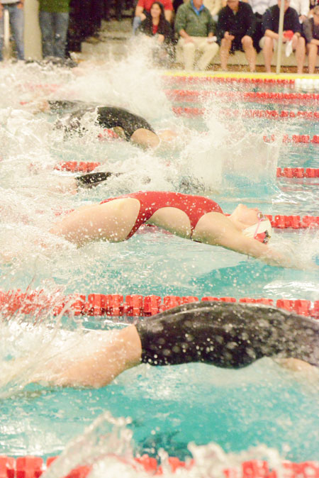 The GHS swimming and diving team finished FCIAC fourth overall, netting 256.50 points. (John Ferris Robben photo)