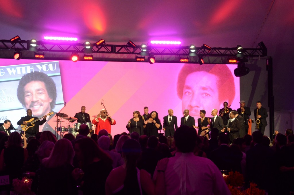 CeeLo Green performing some of Smokey Robinson most memorable hits at MMRF Gala. Photo by John Robben.
