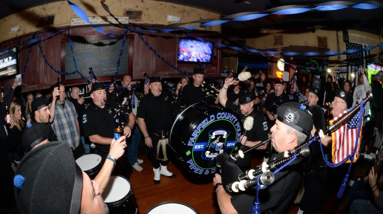 Fairfield County Police Pipe Band Silver Shield Association's first fundraiser. Photo by John Ferris Robben.