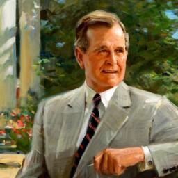 Former President George H.W. Bush, Capitol Hill Club. Washington, D.C.