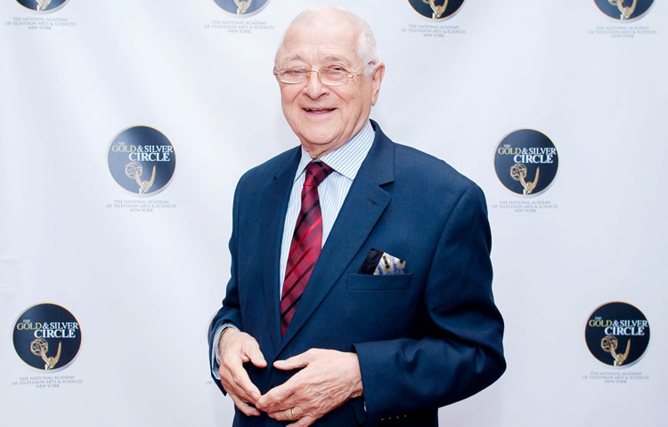 Al Primo poses for a photo while attending the New York Chapter of The National Academy of Television Arts & Sciences event. Primo was honored for his 50 years of work in the television industry. (contributed photo)