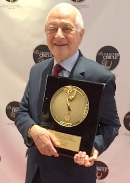 Al Primo holds his new Gold Circle award recently presented to him by New York Chapter of The National Academy of Television Arts & Sciences, for his 50 years of work in the television industry. (contributed photo)