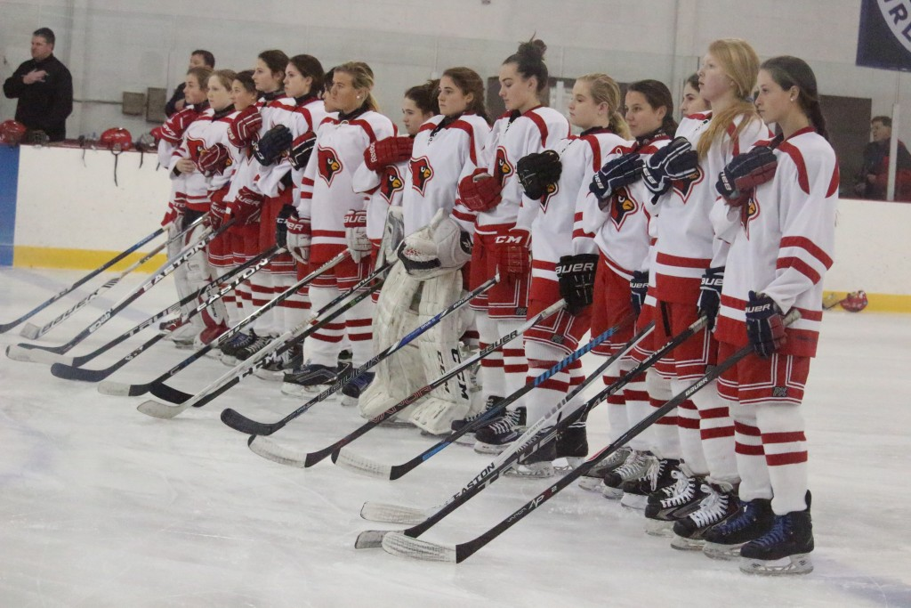 The Greenwich High girls hockey team took care of Darien in a 3-1 battle and now sit atop the FCIAC standings (Evan Triantafilidis photo)