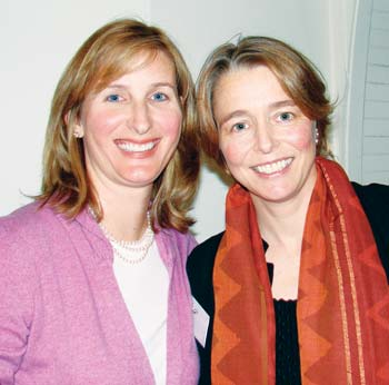 Lesley King, on left, serves on the board of Partners in Health with one of its founders, Ophelia Dahl, daughter of the British author Roald Dahl and the American actress Patricia Neal. (contributed photo)