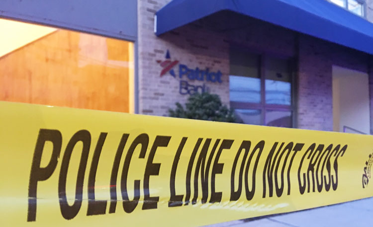 Greenwich Police Respond to Robbery at Patriot Bank, Chase Suspect