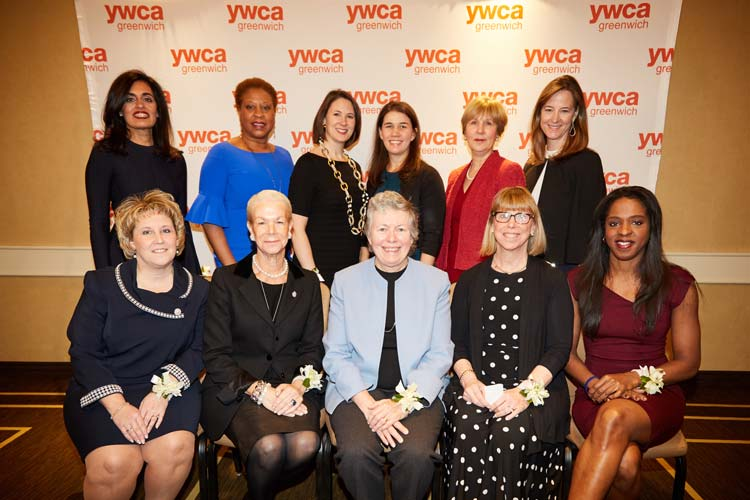 Brava Honorees: Standing left to right: Nisha Kumar Behringer, Romelle Jones Maloney, Pepper Anderson, Lila Snyder, Ruth Fattori, Jenny Storms. Sitting left to right: Denise C. Doria, Cyndi Koppelman, Anne A. Brewer, Susan M. Danaher, Stacey Tisdale.