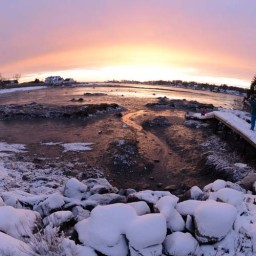 Perspective at the shore after our most recent snow day. Photo by John Ferris Robben